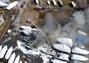 Fire at Krates Marina
